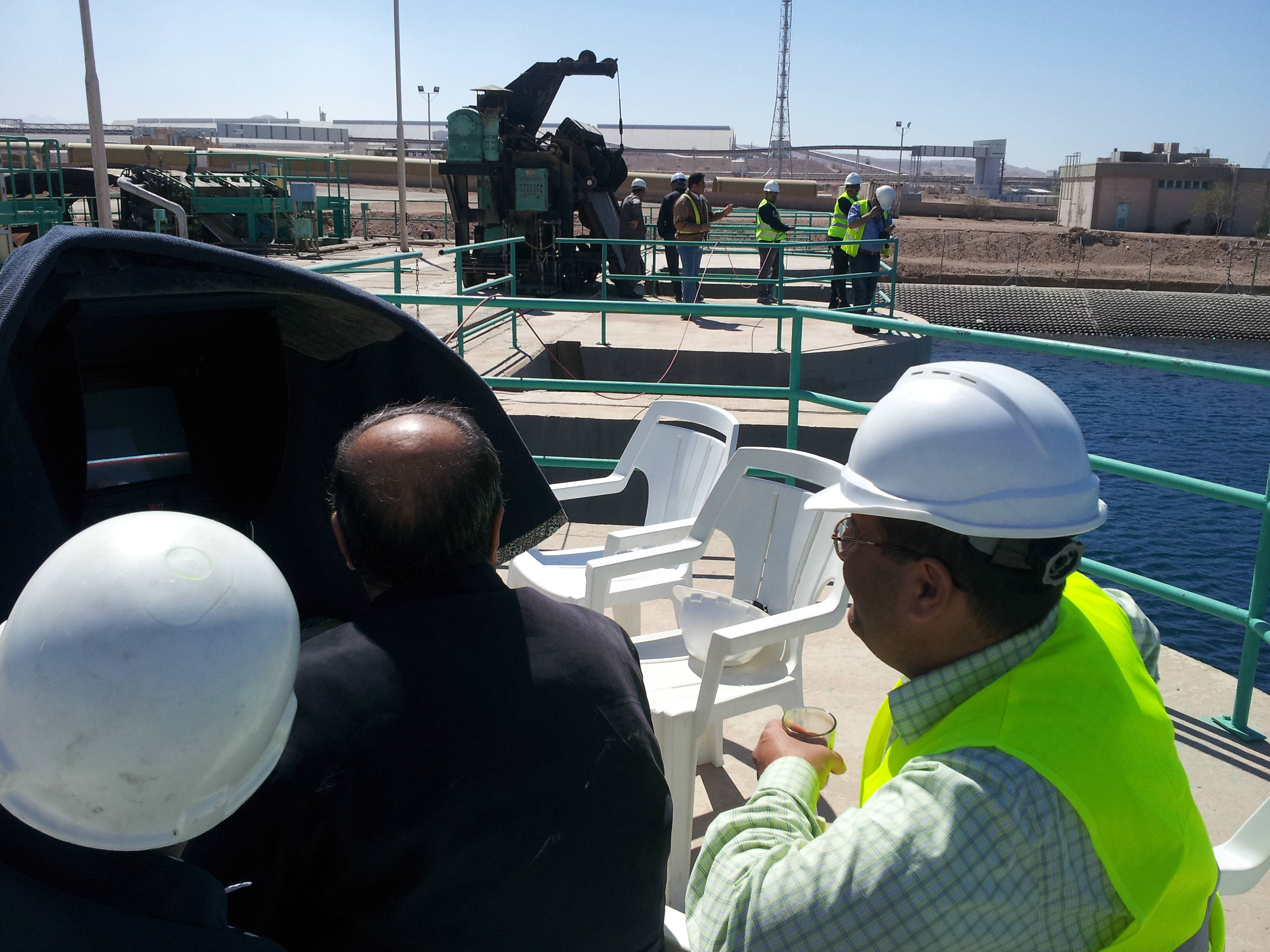 Viewing CCTV Screen During Inspection At Central Electric Generating Company, Jordan With ACES